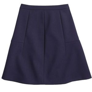 J. Crew Factory Flared Skirt in Navy Blue Size 4